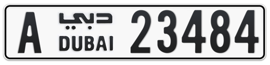 A 23484 - Plate numbers for sale in Dubai