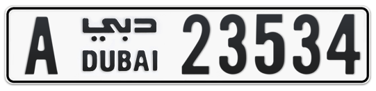 A 23534 - Plate numbers for sale in Dubai