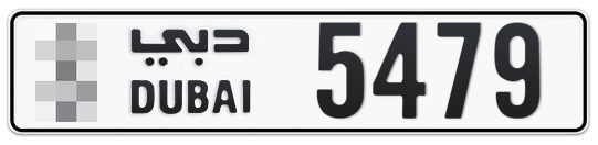 * 5479 - Plate numbers for sale in Dubai
