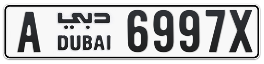 A 6997X - Plate numbers for sale in Dubai