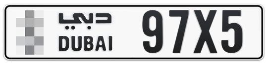 * 97X5 - Plate numbers for sale in Dubai