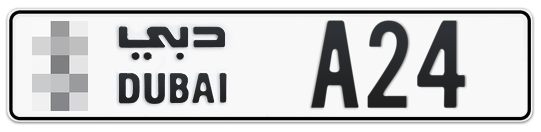 * A24 - Plate numbers for sale in Dubai