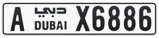 A X6886 - Plate numbers for sale in Dubai