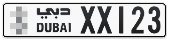* XX123 - Plate numbers for sale in Dubai