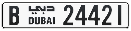 B 24421 - Plate numbers for sale in Dubai
