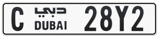 C 28Y2 - Plate numbers for sale in Dubai