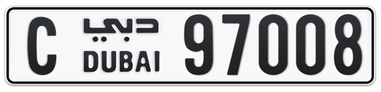 C 97008 - Plate numbers for sale in Dubai