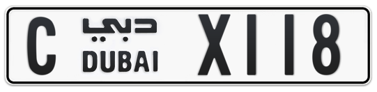 C X118 - Plate numbers for sale in Dubai