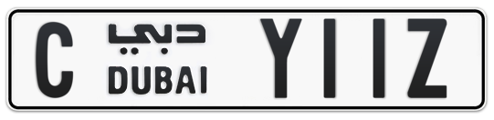C Y11Z - Plate numbers for sale in Dubai