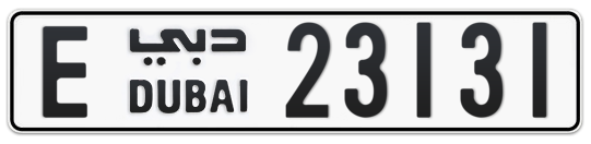 E 23131 - Plate numbers for sale in Dubai