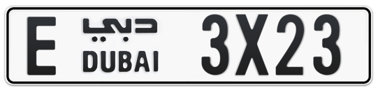 E 3X23 - Plate numbers for sale in Dubai