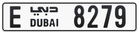 E 8279 - Plate numbers for sale in Dubai