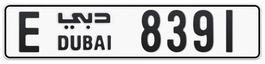E 8391 - Plate numbers for sale in Dubai
