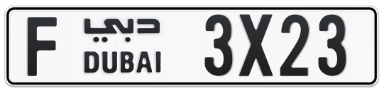 F 3X23 - Plate numbers for sale in Dubai