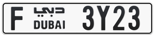 F 3Y23 - Plate numbers for sale in Dubai