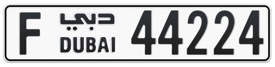 F 44224 - Plate numbers for sale in Dubai