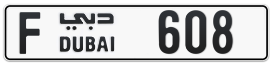 F 608 - Plate numbers for sale in Dubai