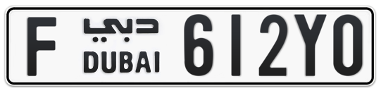 Dubai Plate number F 612Y0 for sale on Numbers.ae