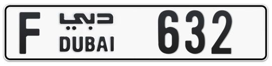 F 632 - Plate numbers for sale in Dubai