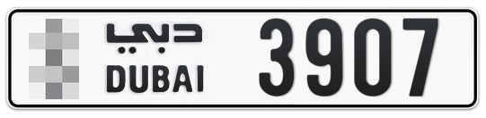 * 3907 - Plate numbers for sale in Dubai