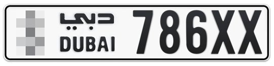 * 786XX - Plate numbers for sale in Dubai