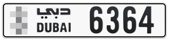 * 6364 - Plate numbers for sale in Dubai