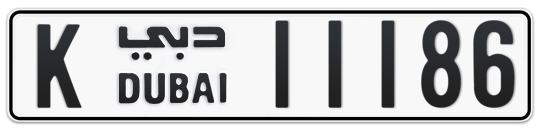 K 11186 - Plate numbers for sale in Dubai