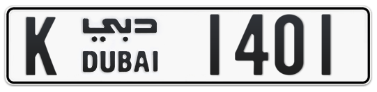 K 1401 - Plate numbers for sale in Dubai
