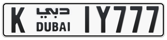 K 1Y777 - Plate numbers for sale in Dubai