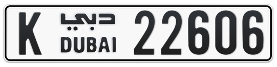 K 22606 - Plate numbers for sale in Dubai