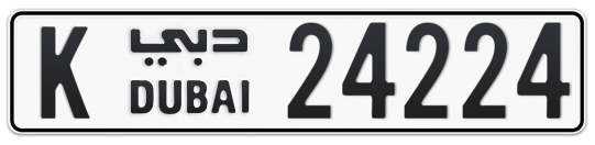 K 24224 - Plate numbers for sale in Dubai