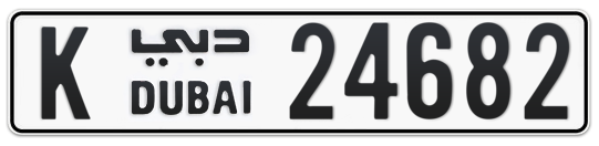K 24682 - Plate numbers for sale in Dubai