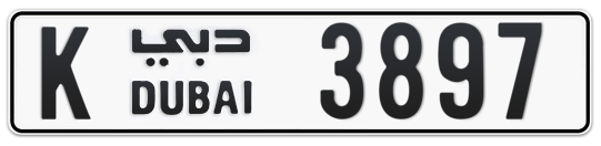 K 3897 - Plate numbers for sale in Dubai