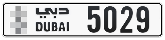 * 5029 - Plate numbers for sale in Dubai