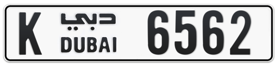 K 6562 - Plate numbers for sale in Dubai