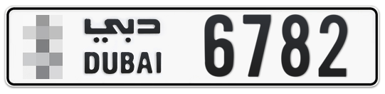 * 6782 - Plate numbers for sale in Dubai