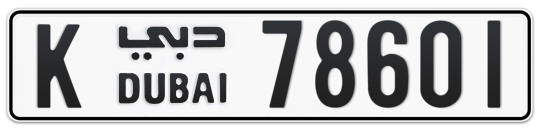 K 78601 - Plate numbers for sale in Dubai