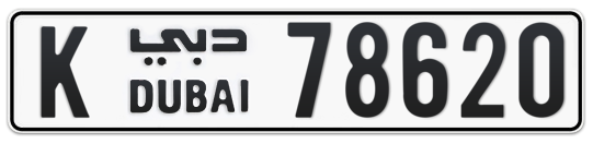K 78620 - Plate numbers for sale in Dubai