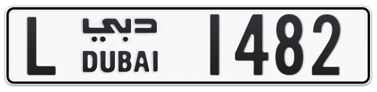L 1482 - Plate numbers for sale in Dubai