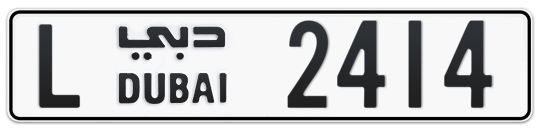 L 2414 - Plate numbers for sale in Dubai