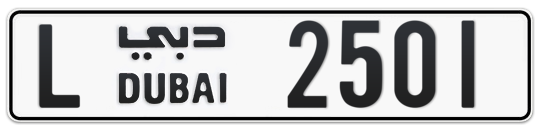 L 2501 - Plate numbers for sale in Dubai