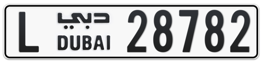L 28782 - Plate numbers for sale in Dubai
