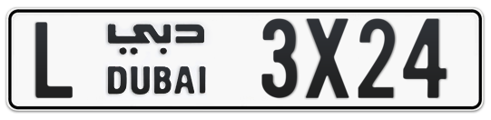 L 3X24 - Plate numbers for sale in Dubai