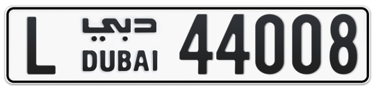 L 44008 - Plate numbers for sale in Dubai