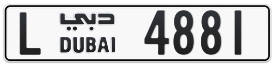 L 4881 - Plate numbers for sale in Dubai