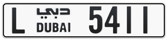 L 5411 - Plate numbers for sale in Dubai