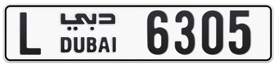 L 6305 - Plate numbers for sale in Dubai