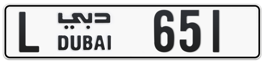 L 651 - Plate numbers for sale in Dubai