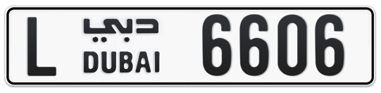 L 6606 - Plate numbers for sale in Dubai