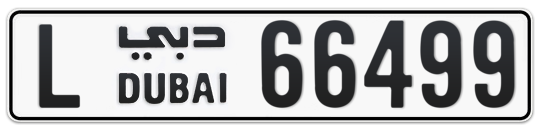 L 66499 - Plate numbers for sale in Dubai